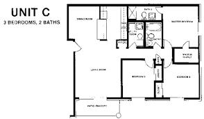 3 Bedroom Apartment Floor Plan 2 Bedroom 2 Bath Apartment Floor Plans Comfortable 3 Apartment