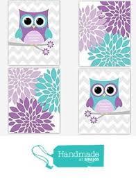 Teal And Purple Bedroom by Purple Turquoise Nursery Decor Owl Nursery Wall Art Baby