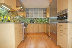kitchen renovation backsplash idea with stone modern galley kitchen renovation with replacing backsplash and installing new stainless steel appliances