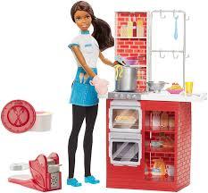 amazon black friday dolls amazon com barbie spaghetti chef african american doll u0026 playset