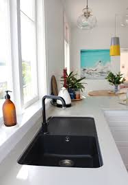 Best  Black Sink Ideas On Pinterest Floating Shelves Kitchen - Marble kitchen sinks