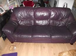 Leather Sofas At Dfs by Free Dfs Leather Sofas Aubergine Coloured 2 U0026 3 Leather Sofas