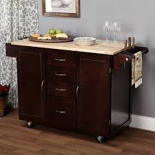 Kitchen Cart Ideas Large Kitchen Cart With Rubberwood Top Multiple Finishes