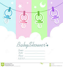 Baby Shower Invitation Cards Templates Theme Blank Baby Shower Invitation
