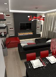 House Decor Red Black And White Living Room Amazing Ideas 9 On Home