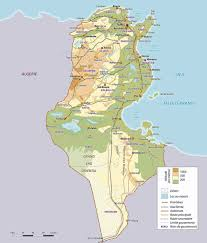 Physical Map Africa by Physical Map Of Tunisia Tunisia Physical Map Vidiani Com Maps