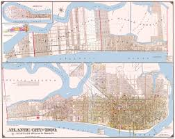 Map Nj Old City Map Atlantic City New Jersey Landowner 1900