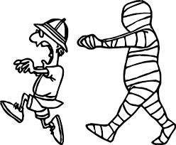man escape from egypt mummy coloring page wecoloringpage
