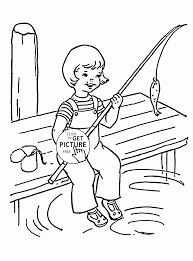ice fishing coloring pages all bundled up for some ice fishing a
