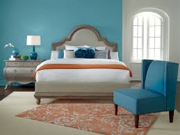 Bedroom Interior Design With Peach Painted Wall Combined Turquoise - Turquoise paint for bedroom