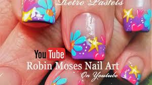 Robin Moses Nail Art by Spring Flower Nails Easy Diy Daisy Heart And Stars Nail Art