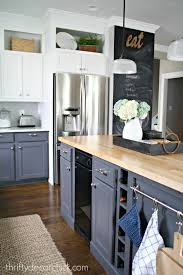 Built In Kitchen Cabinets Building In A Fridge With Cabinet On Top From Thrifty Decor