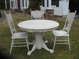 chair white distressed dining room table tables guides grey and