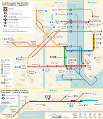 Map Nj New Jersey To Nyc Bus Subway Ferry Shuttle Map New Jersey