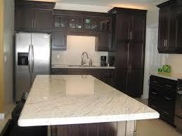 granite kitchen wooden kitchen island with grey quartz