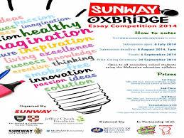 Custom Writing org  Media Release Sunway College Ipoh Sunway Oxbridge Essay Competition guponarsdaleddns Free Essays and     FAMU Online