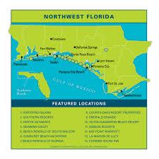 Map Florida Gulf Coast by Northwest Floridavacation Guide Vie Magazine