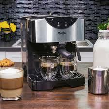 amazon com mr coffee automatic dual shot espresso cappuccino