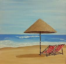 peinture de bord de mer plage peinture tableau de bord de mer peinture originale