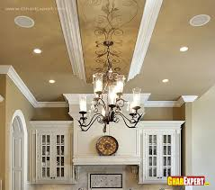 chandelier and false ceiling design for kitchen gharexpert