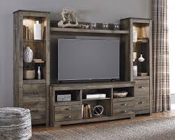 Tv Cabinet Wall Design Signature Design By Ashley Trinell Rustic Large Tv Stand W