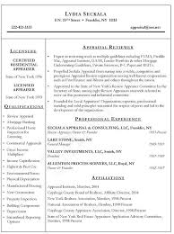 sample resume appraiser  jpg