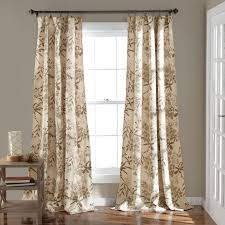 half moon botanical garden window curtain panel set hayneedle