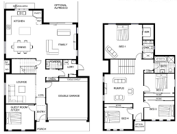Floor Plans For Split Level Homes Dazzling Design 2 Story House Plans With Office 4 Plan 23442jd