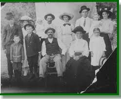 Find made by Brenda C  at Bccaugh aol com  This is the Kirksey family  circa       Top row   left to right Samuel Kirksey Waffie Kirksey Irene Phillips     TNGenWeb