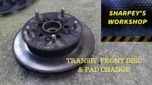 ford transit front disc rotor and pad change rwd model youtube