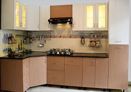 modular small kitchen design ideas with brown color and wooden