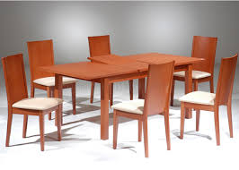 cherry finish modern dining table w extension u0026 optional chairs