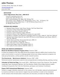 Application Resume Example by Sophisticated High Student Resume Examples
