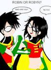 robin and raven kiss