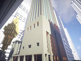 Minecraft New York Map Download by Manhattan U0027s Sony Tower Slightly Modified In Minecraft Form