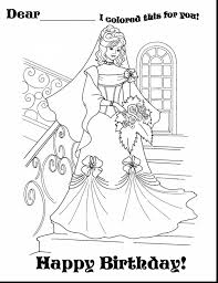 amazing happy birthday princess coloring pages with birthday