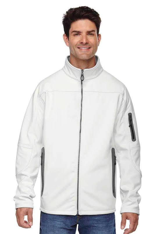 North End 88138 Three-Layer Fleece Bonded Soft Shell Technical Jacket in Crystal Quartz
