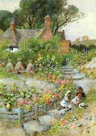 Cottage Garden Book by Arthur Claude Strachan 1865 U003d1929 English Cottages Art