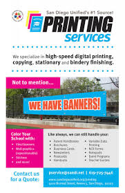 Business Card Printing San Diego Printing Services San Diego Unified District
