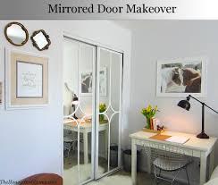 Closet Door Ideas Diy by Mirrored Closet Door Makeover Door Makeover Doors And Bedrooms