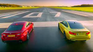 lexus rc uk bmw m4 coupé vs lexus rc f top gear series 22 bbc youtube