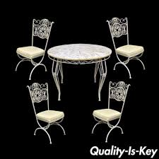 Cast Iron Patio Set Table Chairs Garden Furniture - second hand wrought iron garden furniture gallery of used cast