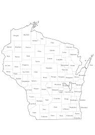 Wisconsin Map With Counties by County Names Images Reverse Search