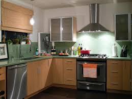 kitchen green kitchen countertop nice backsplash light wood
