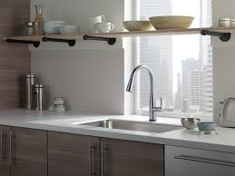 Discount Moen Kitchen Faucets Kitchen Gooseneck Kitchen Faucet With Pull Out Spray Delta Touch