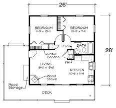 2 Bedroom 1 Bath Floor Plans Cabin Style House Plan 2 Beds 1 00 Baths 728 Sq Ft Plan 312 721