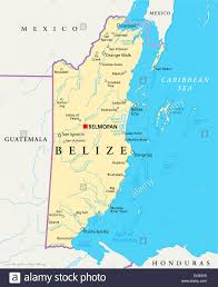 Labeled Map Of Central America by Political Map Of Belize With Capital Belmopan National Borders