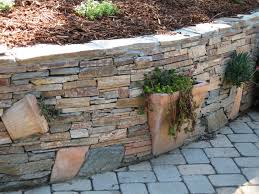 Outdoor Wall Planters by Planters Built Into The Stone Wall Gardening Backyard Diy U0027s And