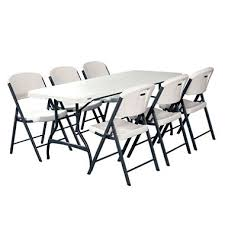 lifetime combo one 6 u0027 commercial grade folding table and 6 folding