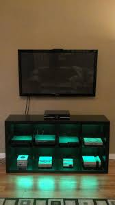 Cabinet For Pc by Video Game Console Cabinet With Led Lights Via Reddit User